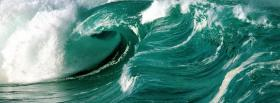 free big waves nature facebook cover