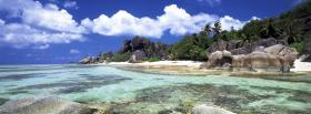 free clouds beach nature facebook cover