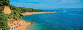 free crowd on the beach facebook cover