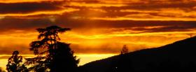 free fiery sky nature facebook cover