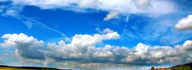 free cloudy sky nature facebook cover