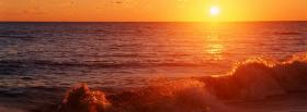free california beach sunset nature facebook cover