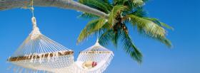 free hammock palm tree nature facebook cover