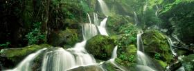 free falls mountain nature facebook cover