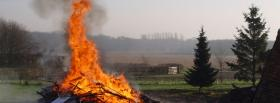 free burning house nature facebook cover