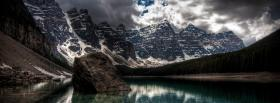free dark moraine lake nature facebook cover
