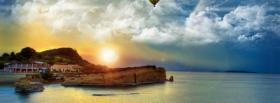 free beach sun clouds nature facebook cover