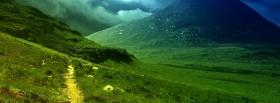 free big green mountains nature facebook cover