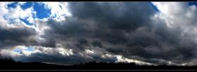 free grey sky nature facebook cover