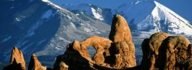 free arch national park nature facebook cover