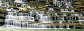 free little waterfalls nature facebook cover