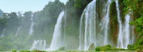 free amazing waterfall nature facebook cover