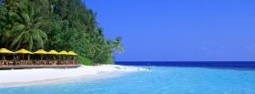 free blue water beach nature facebook cover