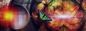 free modern butterfly nature facebook cover