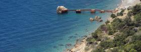 free ocean and rocks nature facebook cover