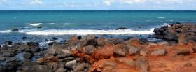 free grey rocks sea nature facebook cover