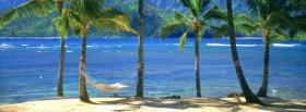 free beach hammock nature facebook cover