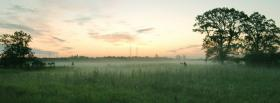 free morning fog nature facebook cover