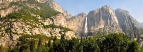free high mountain falls nature facebook cover