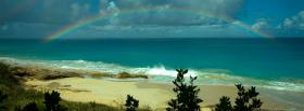 free beach and rainbow nature facebook cover