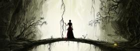 free dark bridge woman nature facebook cover