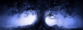 free fantasy dark tree nature facebook cover