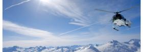 free helicopter winter nature facebook cover