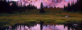 free mount rainier sunset nature facebook cover
