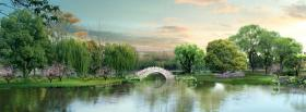 free colorful landscape nature facebook cover