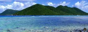 free green mountains beach nature facebook cover