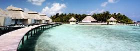 free luxurious bungalows beach nature facebook cover