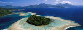 free new britain island nature facebook cover