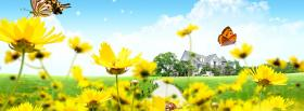 free butterflies and flowers nature facebook cover