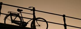 free bike and sunset nature facebook cover
