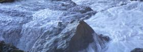 free icy winter nature facebook cover