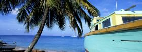 free blue boat nature facebook cover