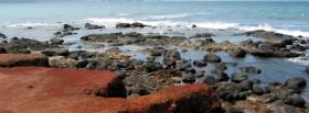 free dark rocks ocean nature facebook cover