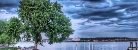 free dark skies trees nature facebook cover