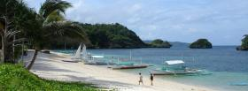 free boracay beach nature facebook cover