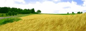 free field and sky nature facebook cover