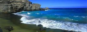 free green beach nature facebook cover