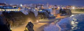 free night beach nature facebook cover
