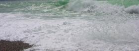 free beach wave nature facebook cover
