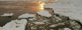 free ice on water nature facebook cover