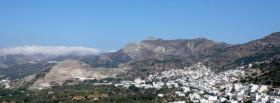 free grey mountain landscape facebook cover