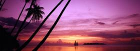 free beach sunset nature facebook cover