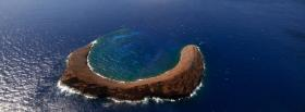 free molokini crater nature facebook cover