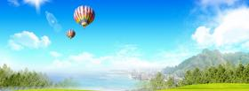 free hot air balloon nature facebook cover