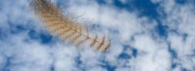 free feather clouds nature facebook cover