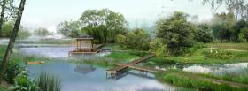 free forest and birds nature facebook cover
